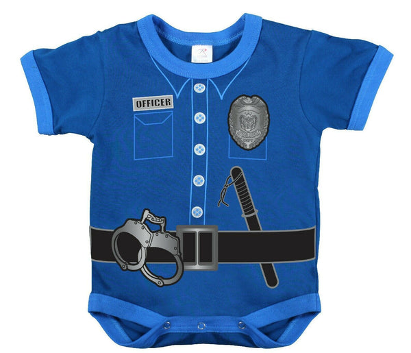 Infant Baby One Piece Bodysuit Police Uniform Shirt Blue Rothco 67099
