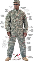 Coat Universal Acu Digital Camo Shirt Rip-Stop Men's Military Style Rothco 5765
