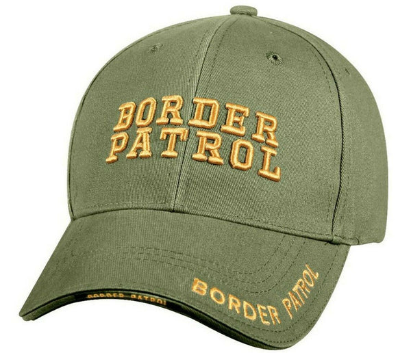 Border Patrol Agent Ball Cap Hat Low Profile OD Olive Baseball Cap Rothco 9368