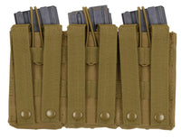 Coyote Brown Tactical Triple Open Top Mag Pouch Molle Modular Rothco 41004