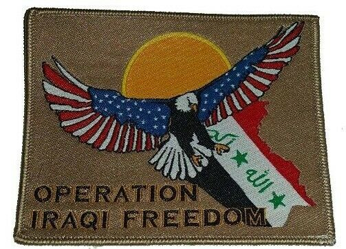 US OIF Military Patch Operation Iraqi Freedom Iraq Eagle Map