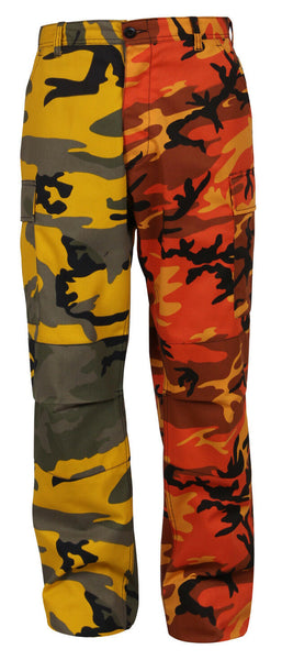 Orange Yellow Two Tone Camo Pants Military BDU Cargo Fatigue Trouser Rothco 1830