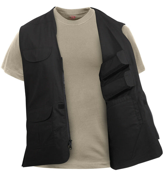 CCW Tactical Travel Vest Lightweight Concealed Carry Black Rothco 86705