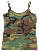 womens camo tank top shirt woodland rothco 4476 various sizes