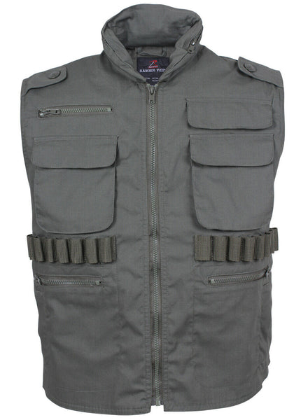 tactical ranger travel vest with hood hoodie olive drab rothco 7566