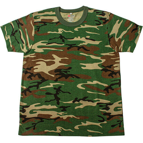 Woodland Camo T-shirt Camouflage Shirt Fox Outdoor 64-14 various sizes