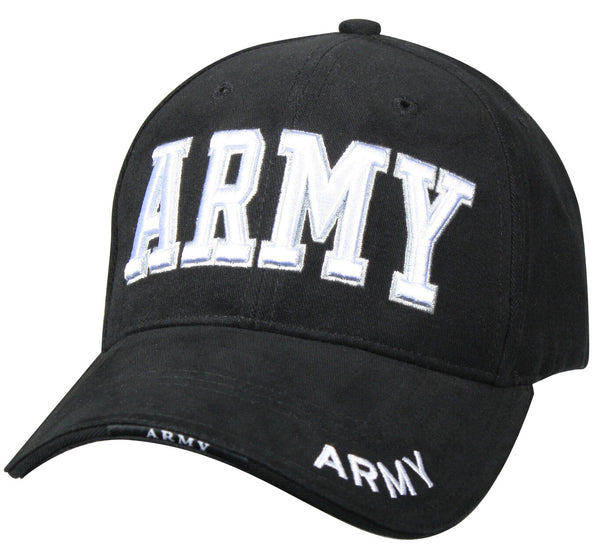 US Army Ballcap Hat Baseball Cap Black 3 d Embroidery Rothco 9385