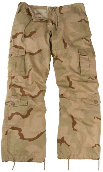 Womens Military Camo Fatigue Pants Tri Color Desert Camouflage Rothco 3786