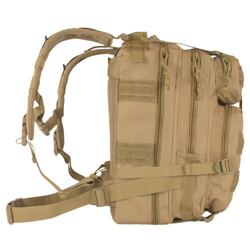Military Style Backpack Medium Transport Pack Coyote Brown Tactical Fox 56-428