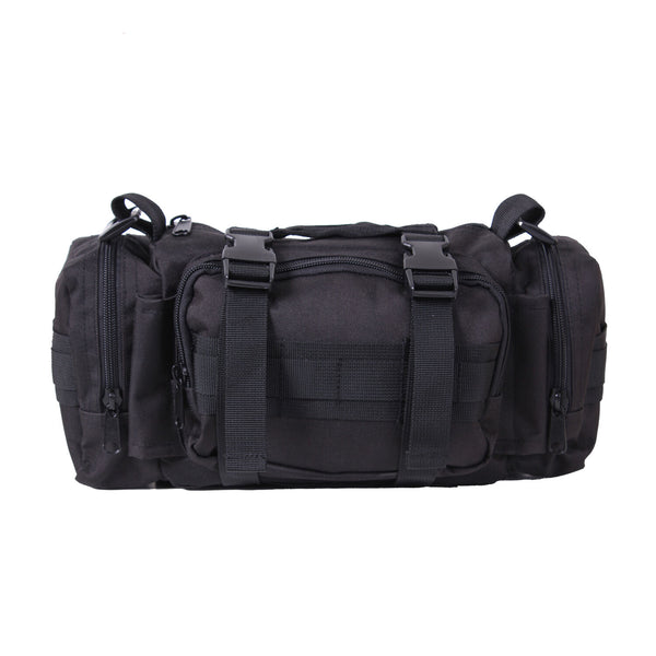 Black Military Tactical Convertipack Shoulder Style Duffle Waist Pack Bag 23610