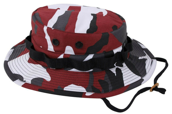 Red Camo Booniehat Military Wide Brim Bucket Sun Jungle Boonie Hat Rothco 5548
