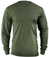 LS T-shirt OD Olive Drab Green Long Sleeve Cotton Polyester Blend Rothco 60118
