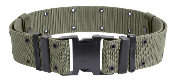Tactical Pistol Belt Marine Corps Style Quick Release Foliage Green Rothco 9677