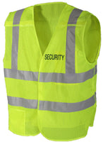 Security Uniform Vest Safety Green High Visibility Reflective 5 Point Breakaway