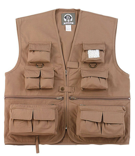 Kids Boys Girls Travel Adventure Vest Khaki Fishing Hunting Camping Rothco 8546