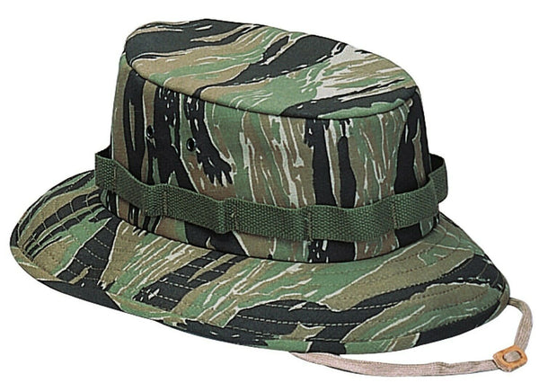 Tiger Stripe Camo Jungle Hat Camouflage Wide Brim Boonie Sun Hat Rothco 5539