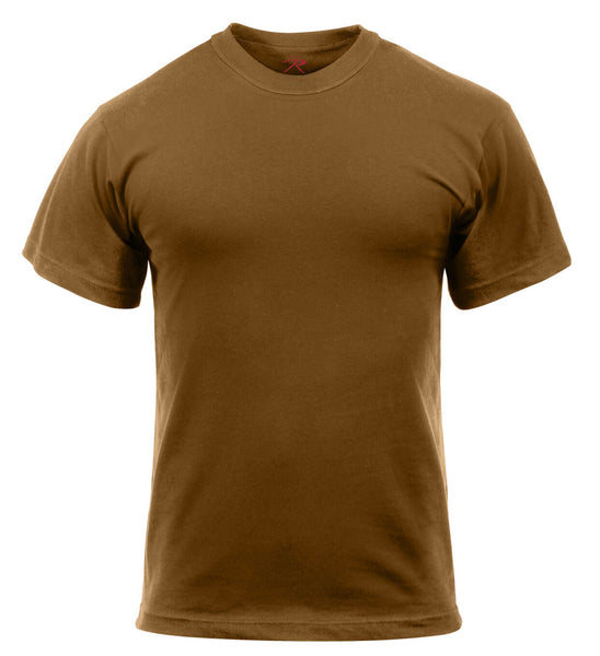 army acu ocp t-shirt 5 pack military shirts brown cotton polyester rothco 6848