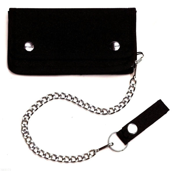 Black Trucker Wallet With Chain and Belt Loop Rothco 10631