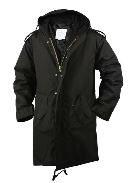 Black Military Jacket M-51 Fishtail Parka Winter Coat Rothco 9464