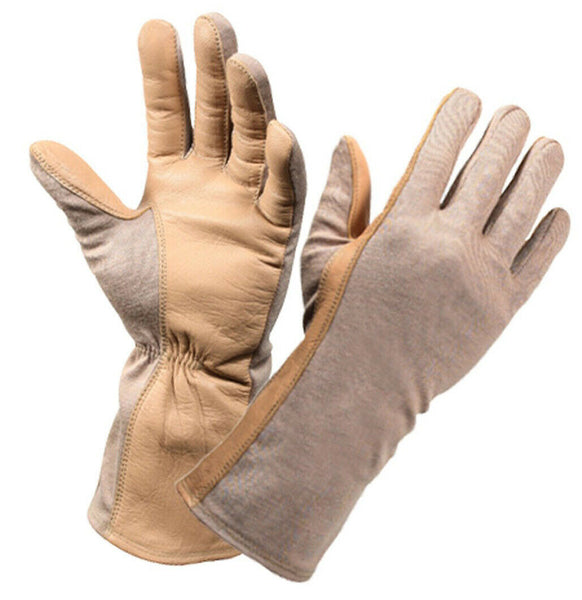 Desert Sand Flame Heat Resistant Military Style Flight Gloves Rothco 3474
