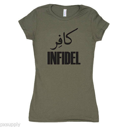 t-shirt womens infidel olive drab various sizes fox outdoor 64-098