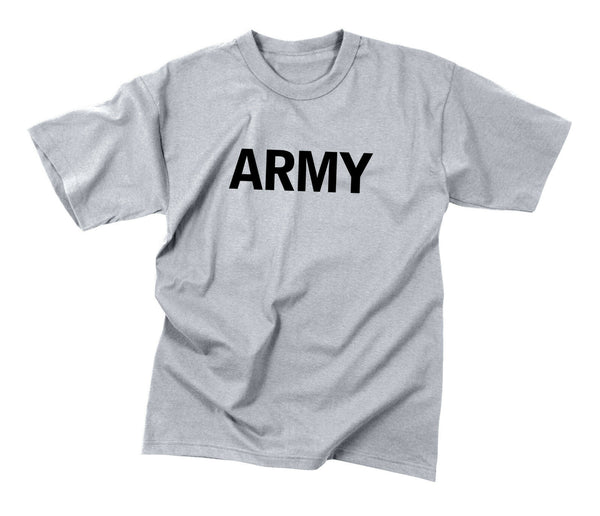 Grey Army PT T-shirt Kids Boys Military Tee Shirt Rothco 66080
