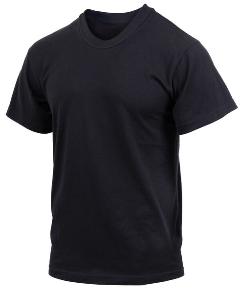 Military PT T-shirt Black Moisture Wicking Polyester Shirt Rothco 9590