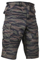 shorts tiger stripe camouflage longer length bdu military style mens rothco 7867