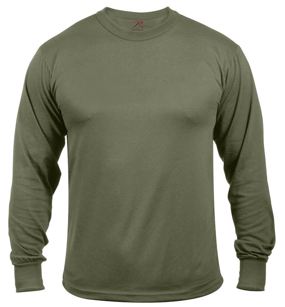 Mens Long Sleeve T-shirt Military Olive Drab Breathable Fabric Rothco 3836