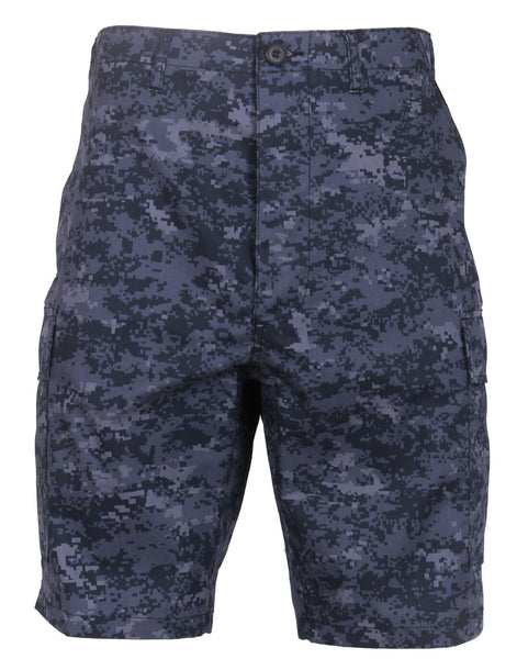 military style bdu shorts dark blue navy digital camo camouflage rothco 68213