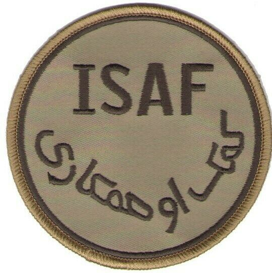 isaf afghanistan military patch desert tan operation enduring freedom oef nato
