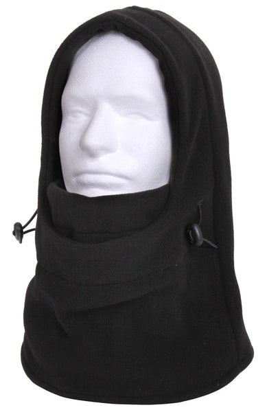 Black Polyester Balaclava 3 in 1 Adjustable Neck Gaitor Face Mask Rothco 55580