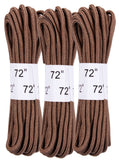 "Coyote Brown Military 72"" Boot Laces 3 Pack rothco 6017"