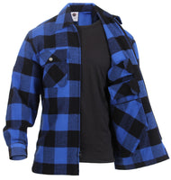 CCW Tactical Concealed Carry Mens Brawny Buffalo Plaid Flannel Shirt Rothco 3966