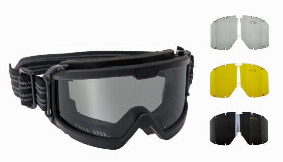 Ballistic ANSI OTG Tactical Goggles Over The Glasses Goggle 3 Lenses Rothco 1723