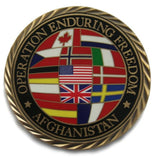 military coin oef coalition afghanistan flags enduring freedom nato