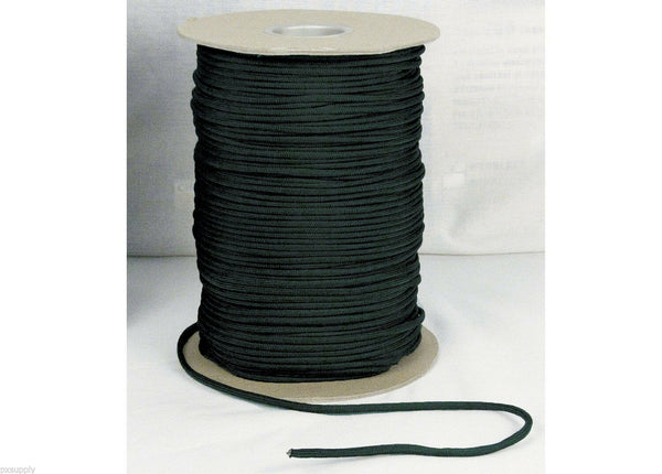 paracord nylon 1000 feet spool type III 550 lbs black made in the usa rothco 304