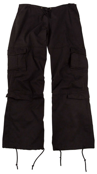 Womens Military Style Black Pants Cargo Fatigues Rothco 3986