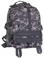large military style transport pack backpack urban digital camo bag rothco 7569