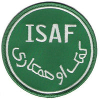 ISAF Afghanistan Military Patch Green Nato Operation Enduring Freedom