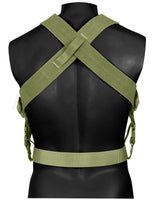 combat suspenders tactical adjustable olive drab rothco 49195