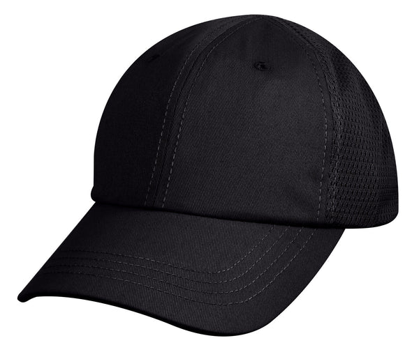 tactical black hat baseball cap ballcap mesh back rothco 99552
