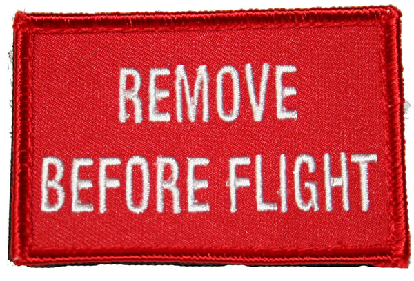 "Remove Before Flight Patch Tactical Red 3"" x 2"""