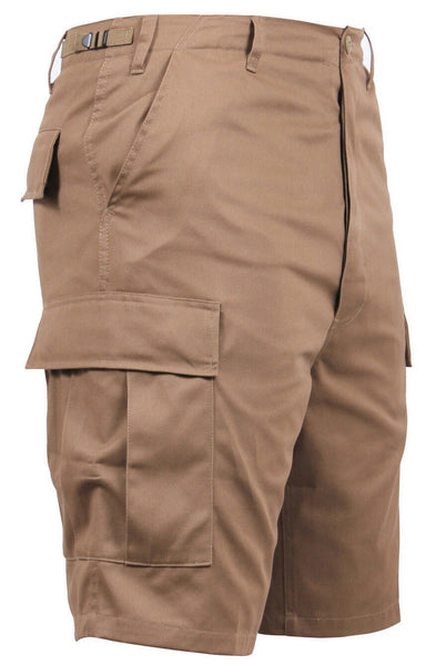 Mens Shorts Coyote Brown Cargo BDU Military Style Rothco 66212