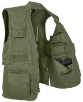 CCW Cargo Vest Tactical Plainclothes Concealed Carry Travel Vest Rothco 8567