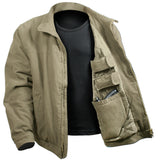 ccw jacket concealed carry 3 season khaki various sizes rothco 5385