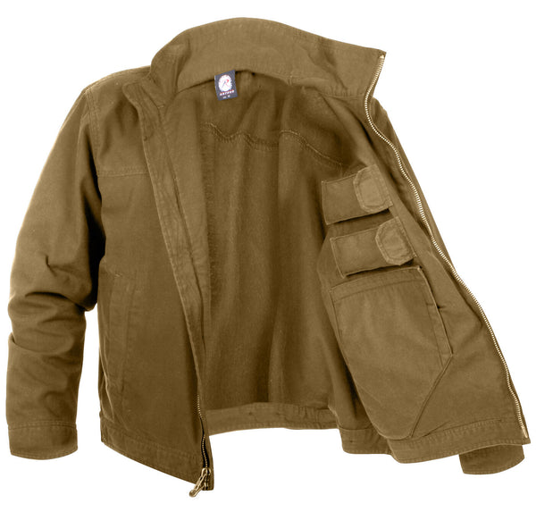 tactical jacket concealed carry lightweight coyote ccw various sizes rothco 3801