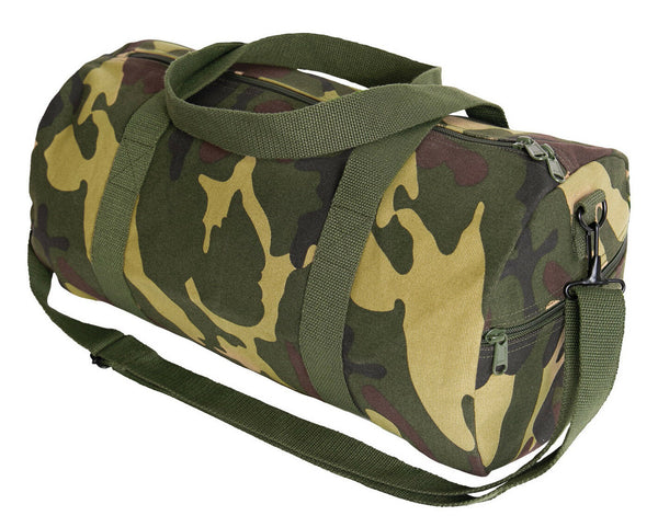 "Woodland Canvas Sports Gym Duffle Carry Shoulder Bag & Strap - 19"" Rothco 2211"