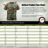 camo t-shirt tri color desert camouflage cotton poly blend rothco 8767