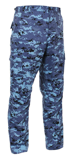 bdu pants pant military style cargo sky blue digital camo rothco 99620